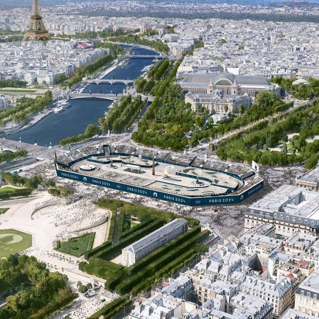 Stade urbain de la Concorde. Crédits : Paris 2024
