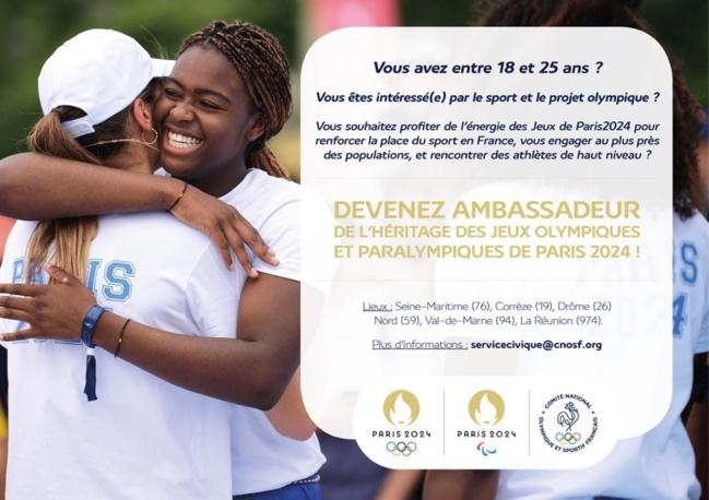 Devenez ambassadeur de l'héritage des Jeux Olympiques et Paralympiques de Paris 2024