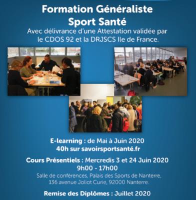 Formation Sport Santé - Session Juin 2020 - MAINTENUE