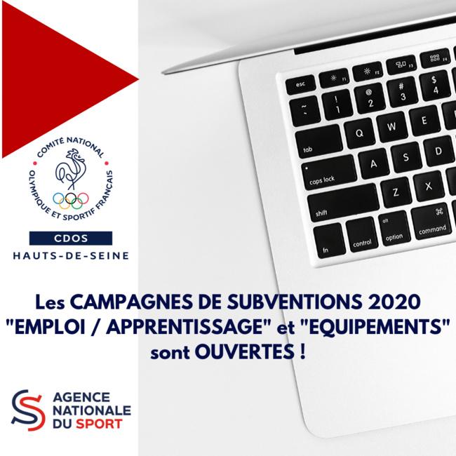 Les campagnes de subventions ANS 2020 sont ouvertes