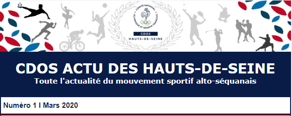 Le 1er numéro du CDOS Actu des Hauts-de-Seine est enfin disponible !