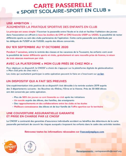 Flyer d'informations pour les clubs