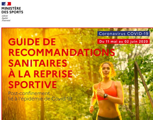 La reprise des activités sportives post-confinement - Les guides pratiques sont disponibles !