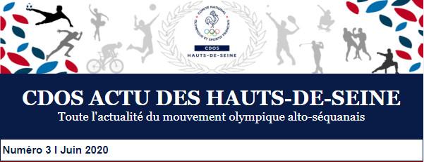 Le 3ème numéro du CDOS Actu des Hauts-de-Seine - Juin 2020