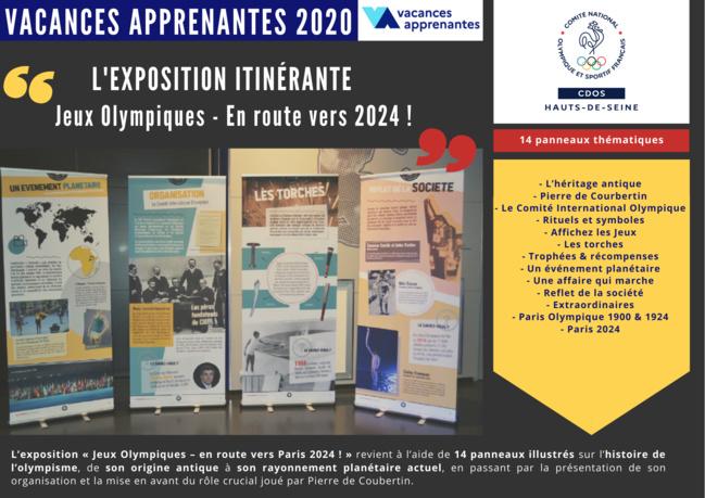 Vacances apprenantes 2020 : Découvrez vite la nouvelle exposition itinérante du CDOS 92 !