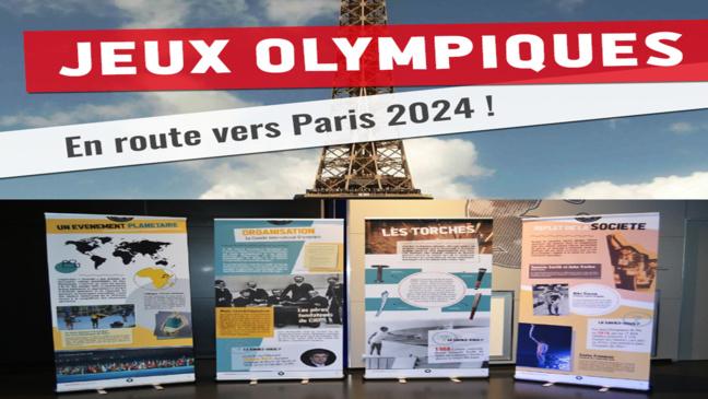 """Notre Exposition itinérante - """"Jeux Olympiques - En route vers Paris 2024 !"""""""