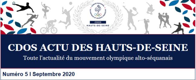 LE 5ÈME NUMÉRO DU CDOS ACTU DES HAUTS-DE-SEINE - SEPTEMBRE 2020