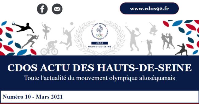 CDOS Actu des Hauts-de-Seine - N°10 - Mars 2021
