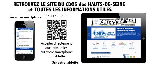 L'ACTUALITE du CDOS des HAUTS-DE-SEINE sur mobile et tablette