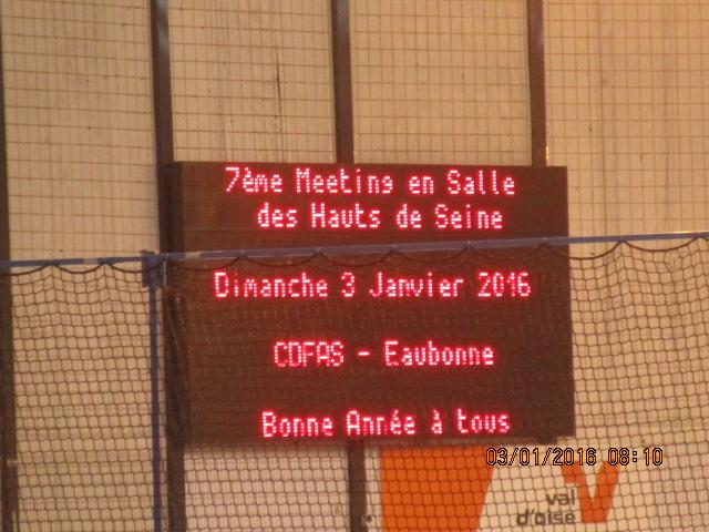 7ême meeting d' Atltlétisme en salle des Hauts-de-Seine