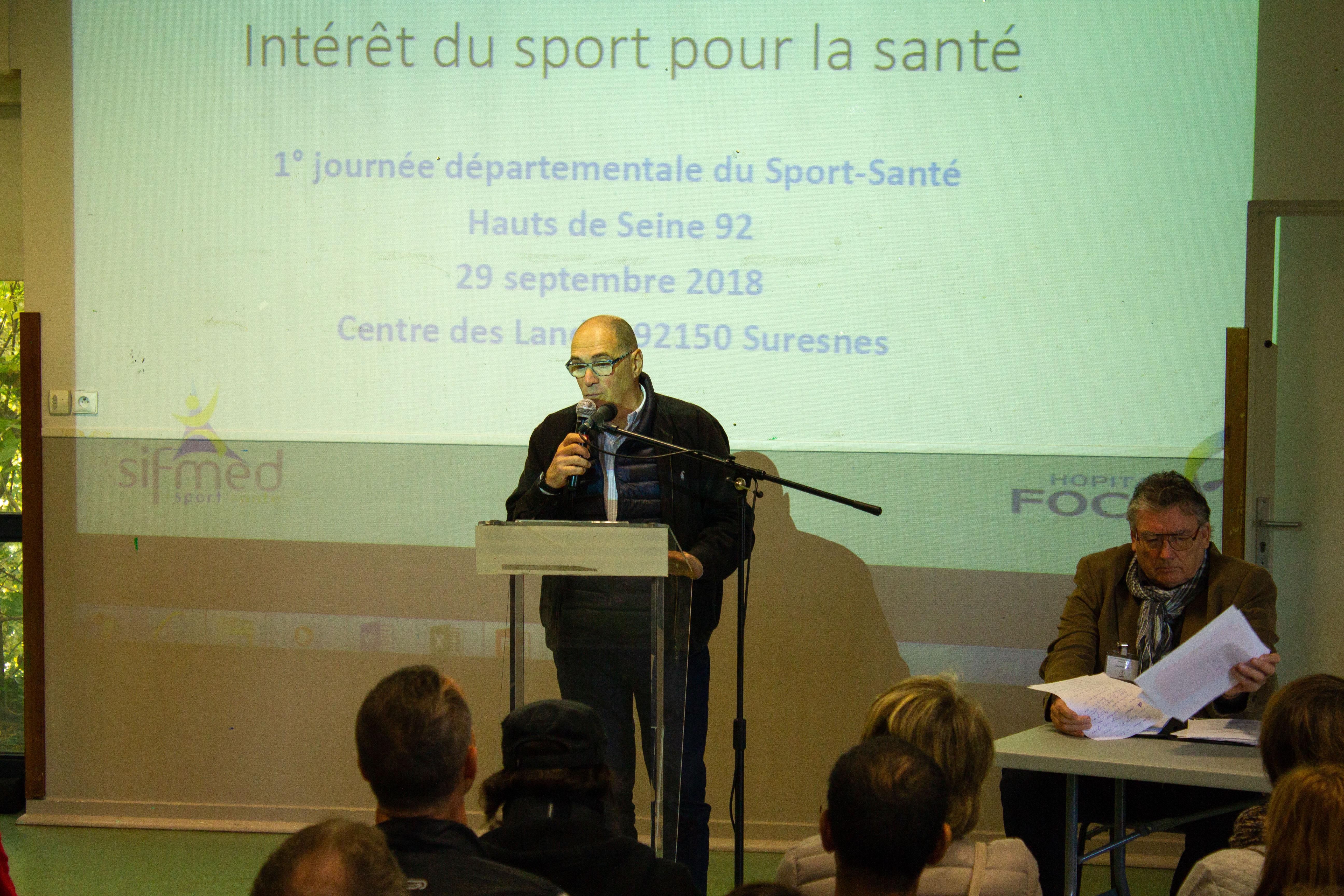 Le Président du CDOS 92 Jean DI MEO à la Journée départementale du Sport Santé