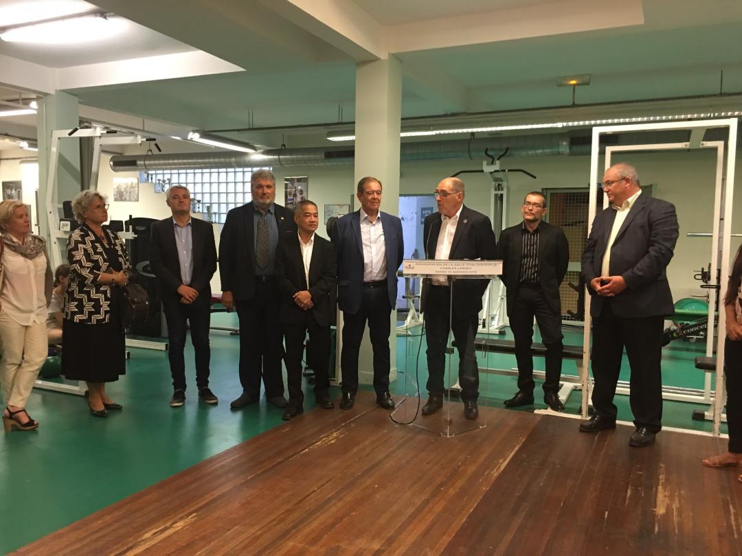 """Inauguration de la salle d'haltérophilie """"Charles LARGET"""" à Rueil-Malmaison"""
