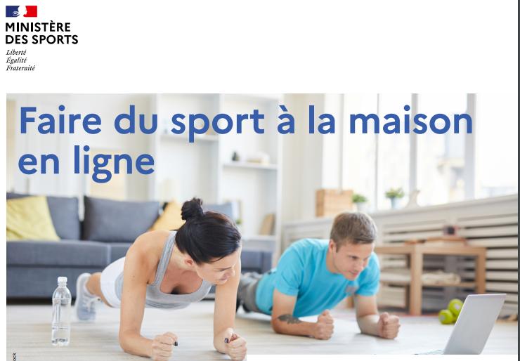 Faire du sport à la maison en ligne !