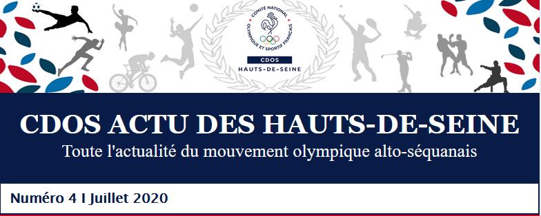 LE 4ÈME NUMÉRO DU CDOS ACTU DES HAUTS-DE-SEINE - JUILLET 2020