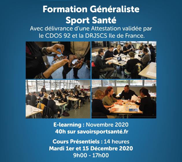 Formation sport santé - Inscription session Décembre 2020