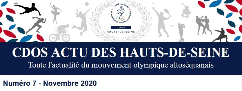 CDOS Actu des Hauts-de-Seine - Numéro 7 - Novembre 2020