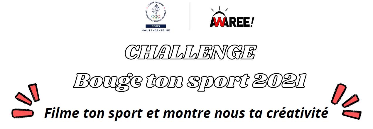 """""""Bouge ton Sport !"""" - Le challenge 100% digital de la SOP 2021"""