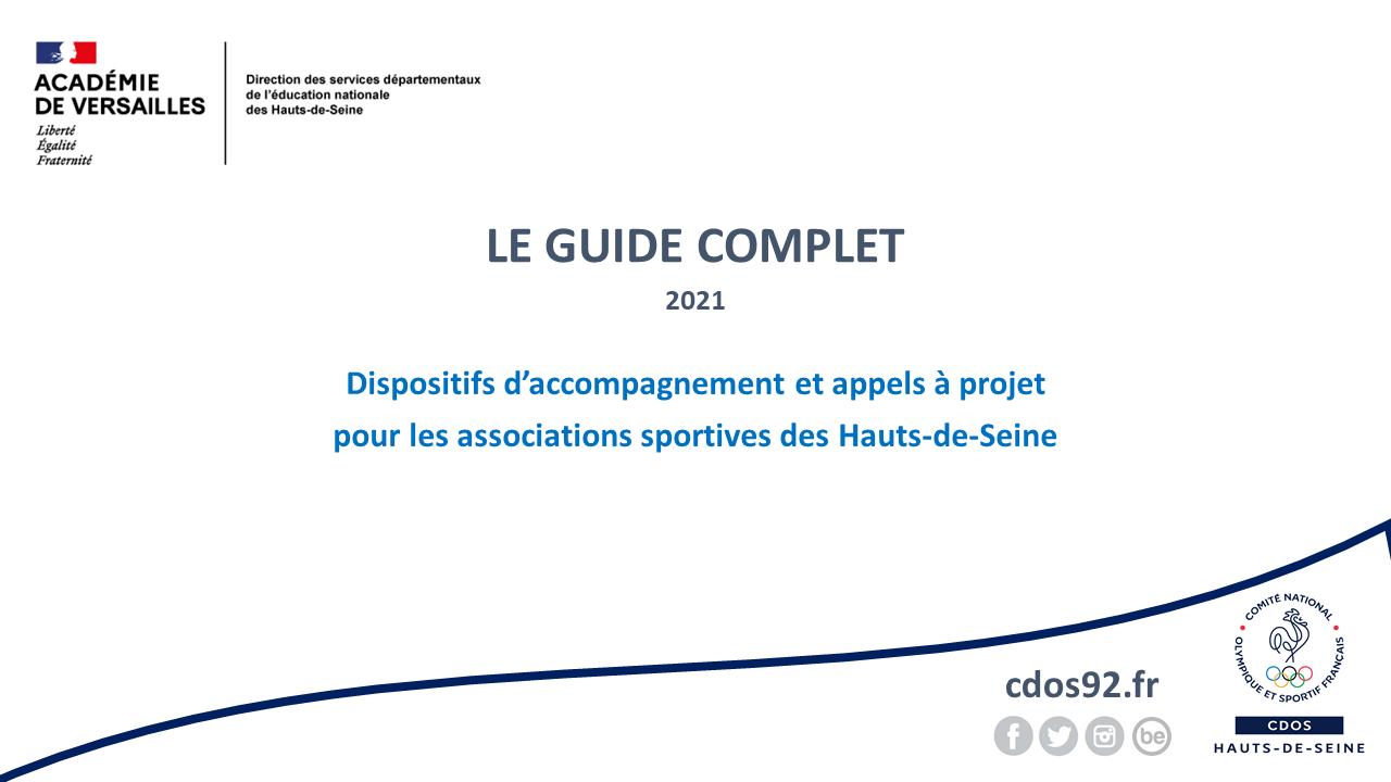 Dispositifs de soutien aux associations sportives des Hauts-de-Seine - Le Guide complet 2021
