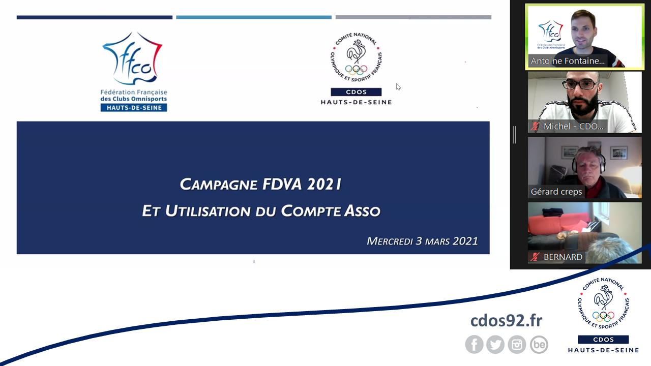 """Retour sur le webinaire """"Campagne FDVA II et Compte Asso"""" du CDOS 92 / CDCO 92"""