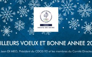 Le CDOS 92 vous présente ses meilleurs voeux et de bonnes fêtes!