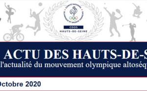 Le 6ème numéro du CDOS ACTU DES HAUTS-DE-SEINE - Octobre 2020