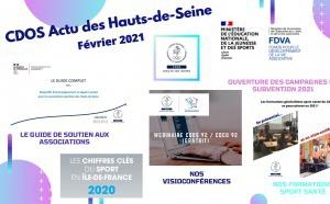 CDOS Actu des Hauts-de-Seine - N°9 - Février 2021